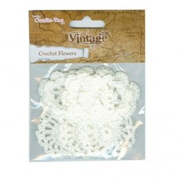 Crafts Too® Vintage Collection Crochet Flowers - White