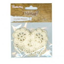 Crafts Too® Vintage Collection Crochet Flowers - Cream