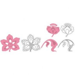 Marianne D Collectables Die & Stamp Set - Flowers and Leaf #1