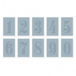 Sizzix® Texture Trades™ Embossing Folders 10PK - Numbers Set  By Tim Holtz®