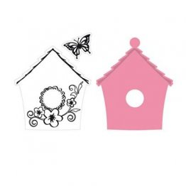 **50% OFF** Marianne D Collectables Die & Stamp Set - Bird House, Flowers