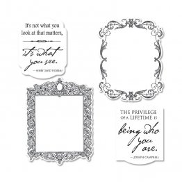 Sizzix™ Stamp & Die-cut Framelits Set (4pk) - Frames by GRAPHIC 45