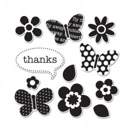 Sizzix™ Stamp & Die-cut Framelits Set (11pk) - Flutter Friends by DOODLEBUG DESIGN INC.