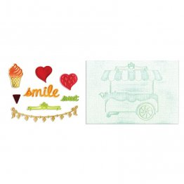 Sizzix™ Framelits Die Set 8PK w/Textured Impressions - Sweet Shoppe by Rachael Bright