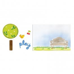 Sizzix™ Framelits Die Set 5PK w/Textured Impressions - Playing in the Park by Deena Ziegle
