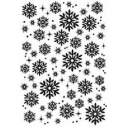 Woodware® Craft Collection - Snowflakes & Sparkles Clear stamp