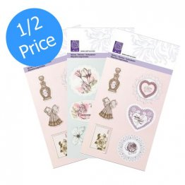 cArt-Us® Vintage Romance Collection - Glitter Embossed Sticker Bundle (3 pk)