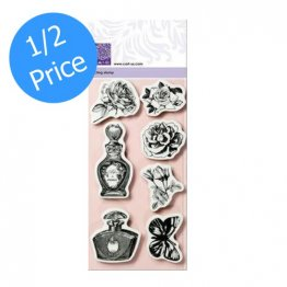 cArt-Us® Vintage Romance Collection -  Vintage Romance, Cling Mount Stamp Set (7 pcs)
