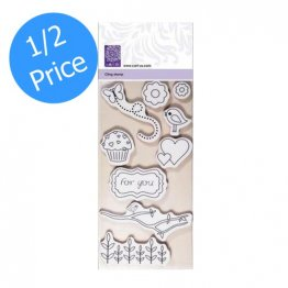 cArt-Us® So Sweet Collection - So Sweet, Cling Mount Stamp Set (9 pcs)