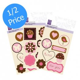 cArt-Us® So Sweet Collection - Glitter Embossed Sticker Bundle (3 pk)
