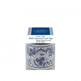 Papermania New Capsule Collection, Parisienne Blue - Wide Patterned Craft Tape