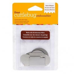Cuttlebug® Embossables Metal Shapes - Basic Shapes, Silver