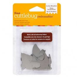Cuttlebug® Embossables Metal Shapes - In the Meadow, Silver