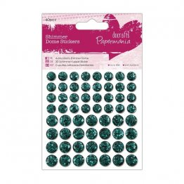 Papermania® Essentials - Shimmer Dome Stickers (60pcs) - Forest Green
