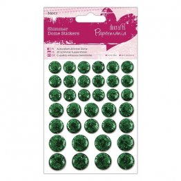 Papermania® Essentials - Shimmer Dome Stickers, Large (36pcs) - Green