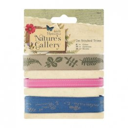 Papermania™ Nature's Gallery - Stitched Trims (3 pcs)