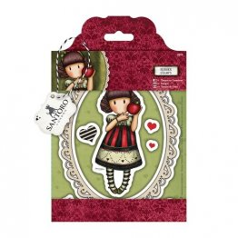 Gorjuss™ by SANTORO - Cling Rubber Stamp Set, Dear Apple