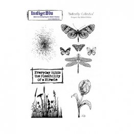 IndigoBlu™ A5 Rubber Stamp - Butterfly Collector