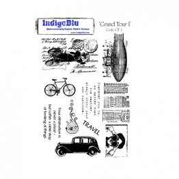 IndigoBlu™ A5 Rubber Stamp - Grand Tour I