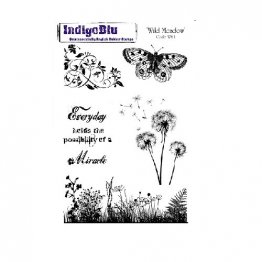IndigoBlu™ A5 Rubber Stamp - Wild Meadow
