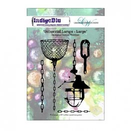 IndigoBlu™ A6 Rubber Stamp - Industrial Lamps, Large
