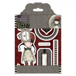 Gorjuss™ by SANTORO Rubber Stamps - Tweed Collection, Holly