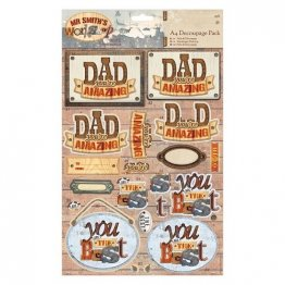 Papermania® Mr Smith's Workshop Collection - A4 Decoupage Pack