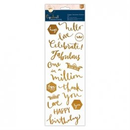 DoCrafts® Opulent Forever Friends™ Collection - Copper Sentiment Stickers (2 pcs)