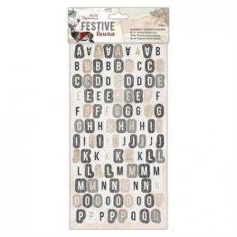 Papermania® Festive Fauna Collection - Alphabet Thicker Stickers (216pcs)