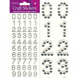 Eleganza® Craft Stickers - Numbers - Glitzy Gems