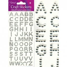 Eleganza® Craft Stickers - Alphabet - Glitzy Gems