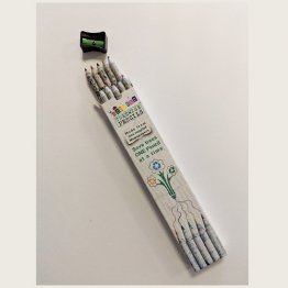 Treewise Pencils™ Colouring Pencils (10pk) incl. Pencil Sharpener