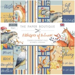 Creative Worlds of Crafts™ The Paper Boutique Collection - 8 x8 Embellishment Pad, A Whisper of Autumn