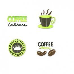 Sizzix™ Small Sizzlits® Die Pack - Coffee Time Set by Emily Humble™