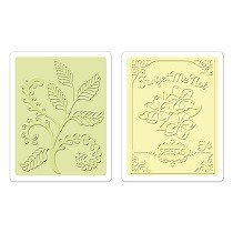 Sizzix® Textured Impressions™ Embossing Folder Set 2PK - Ferns & Seed Packet by Jen Long™