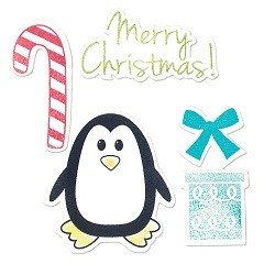 Framelits Die Set & Stamps 5PK - Penguin & Candy Cane by Stephanie Barnard
