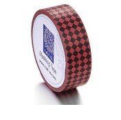 Cart-Us Washi Masking Tape - Red & Black Harliquin