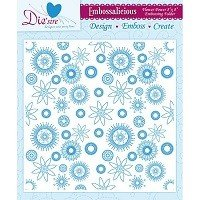 8in x 8in Embossalicious™ Embossing Folder by Crafter's Companion™ - Flower Power
