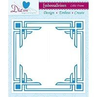 8in x 8in Embossalicious™ Embossing Folder by Crafter's Companion™ - Celtic Frame