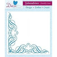 8in x 8in Embossalicious™ Embossing Folder by Crafter's Companion™ - Chantilly Corner
