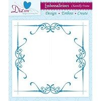 8in x 8in Embossalicious™ Embossing Folder by Crafter's Companion™ - Chantilly Frame