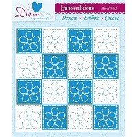 8in x 8in Embossalicious™ Embossing Folder by Crafter's Companion™ - Floral Stitch