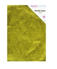 AspireCrafts® Crafting A4 Gold Paper Pack (10pcs) - Garden Roses