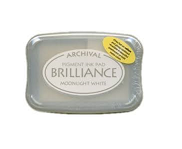 Brilliance Ink Pad, Pigment - Moonlight White