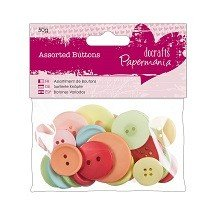 Papermania® Essentials - Assorted Buttons (50g), Vintage