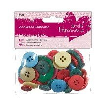 Papermania® Essentials - Assorted Buttons (50g), Brights