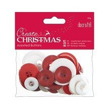 Papermania® Essentials - Assorted Buttons (50g), Nordic Christmas