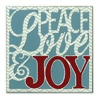 Sizzix Thinlits Die Set 4PK - Card Front, Peace, Love & Joy by Rachael Bright