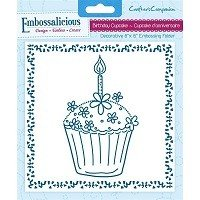 **50% OFF** 6in x 6in Embossalicious™ Embossing Folder by Crafter's Companion™ - Birthday Cupcake