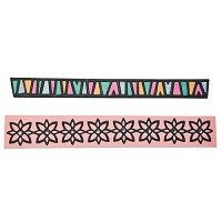 Sizzix Thinlits Die Set 2PK - Tribal Borders by Craft Asylum